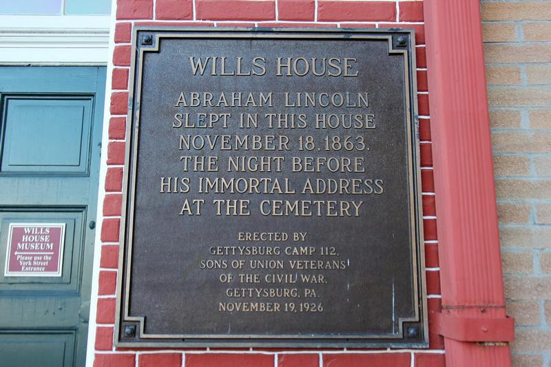 David Wills House plaque - Gettysburg - History's Homes