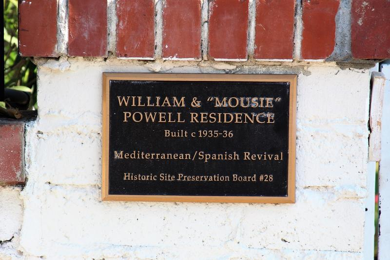 William Powell Home plaque - Palm Springs - History's Homes